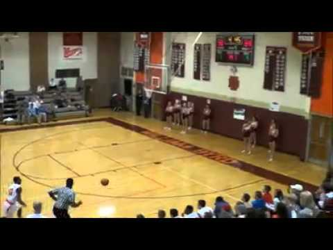 Amazing high school basketball shot