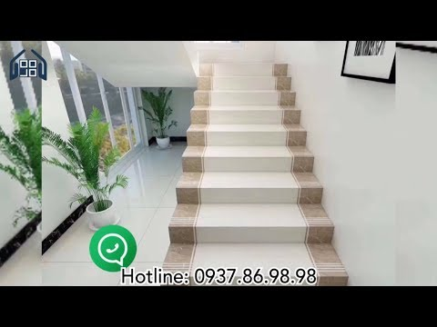 Gạch giả đá ốp cầu thang cao cấp giá rẻ|Gạch cầu thang đẹp