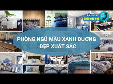 Cách trang trí phòng ngủ màu xanh dương, xanh nước biển TUYỆT ĐẸP