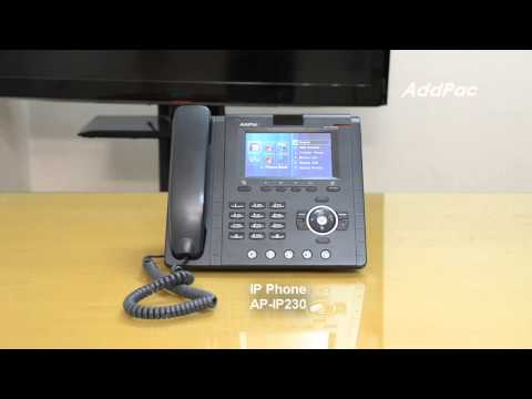 AP-IP230 Touch Screen IP Phone | AddPac