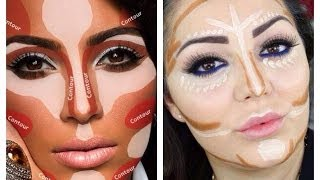 Contouring and Highlighting like Kim Kardashian - Makeup Secret! - YouTube