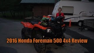 3. 2016 Honda Foreman 500 4x4 Review + Night Ride!