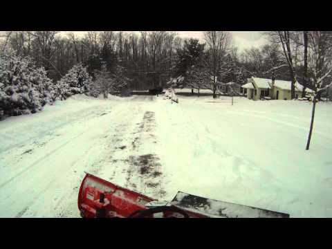Kubota RTV1100 Plowing Snow w/ V4291 Plow