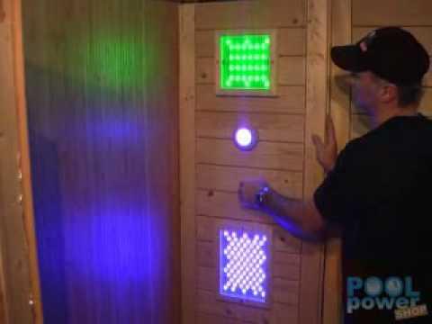 LED Sauna-Farblicht GLEO: bunte Saunabeleuchtung mit wechselnden Farben