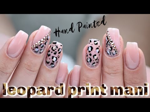 Gel nails - HOW TO: PURPLE LEOPARD PRINT GEL MANICURE  LUMINARY NAIL SYSTEMS