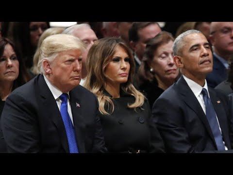 Trump auf Trauerfeier für George H. W. Bush: Eisige S ...