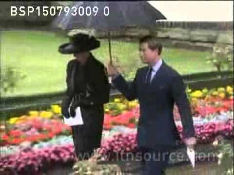 Princess Diana at grandmother's funeral