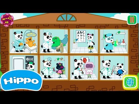 Hippo 🌼 Los huevos de sorpresa bebé 🌼Familia de doctores pandas 🌼 Dibujos animados para niños