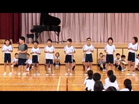 小笠北小学校4年生暗唱発表「47都道府県」