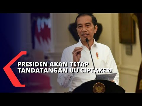 Hari Ini! Presiden Jokowi Rencananya akan Tetap Tandatangani UU Cipta Kerja