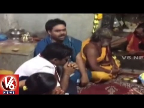 MLA-Indrakaran-Reddy-Wife-Offers-Special-Pooja-At-Cheruvugattu-Temple-Nalgonda-V6-News