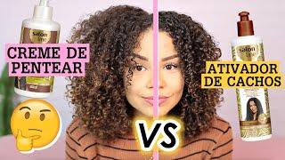 QUAL A DIFERENÇA: ATIVADOR DE CACHOS x CREME DE PENTEAR?  por Ana Lídia Lopes