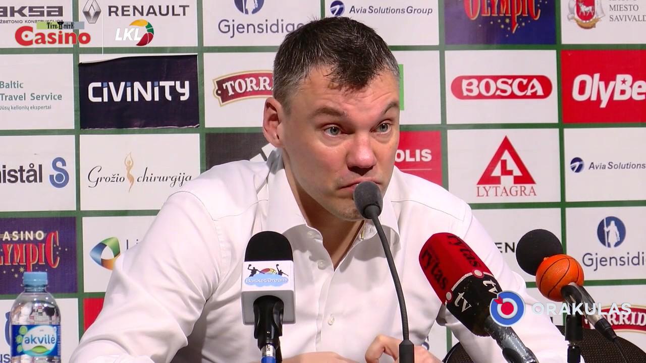 """Š. Jasikevičius: """"Sirgaliams turėjo patikti ir žaidimas, ir rezultatas"""""""
