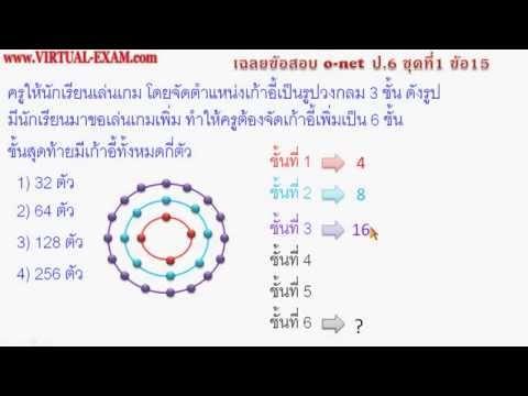 เฉลยข้อสอบคณิตศาสตร์ O-NET ป.6 ชุดที่ 1 ข้อ 15