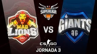MAD LIONS E.C. VS GIANTS GAMING - MAPA 2 - SUPERLIGA ORANGE - #SUPERLIGAORANGECSGO3