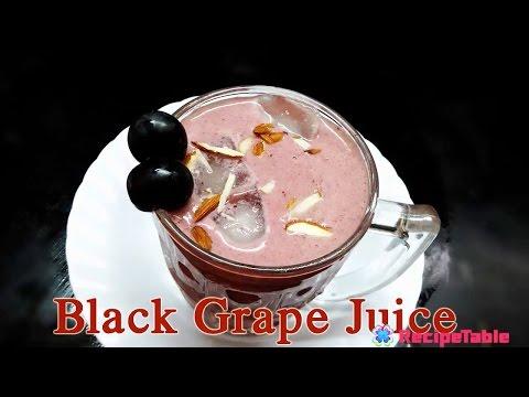 Black Grape Juice Nalla Draksha Rasam Angur Juice Preparation