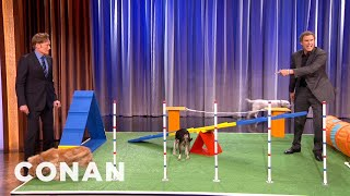 Video Will Ferrell's Amazing Canine Obstacle Course Demo - CONAN on TBS MP3, 3GP, MP4, WEBM, AVI, FLV Desember 2018