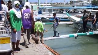Guimaras Island Philippines  City new picture : Port of Iloilo Philippines, Pump boat ferry service to Guimaras Island