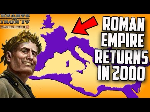 SPQR Returns! Roman Empire in 2000 Hearts of Iron 4 (Modern Day Mod Gameplay) (видео)