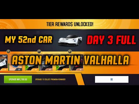 Asphalt 8 Unlock Aston Martin Valhalla 🤩🤩 DAY 3 [How to Get Free Festival Rewards]