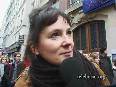telebocal manifestation contre Sarkozy rue d'Enghien 10 février 07