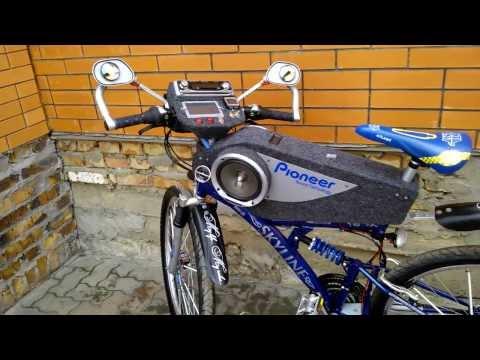 Как сделать колонки на велосипед