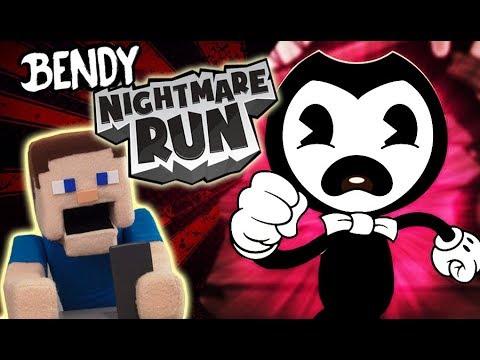Bendy's Nightmare Run BATIM Gameplay APP Android Hack Walkthrough Song Puppet Steve (видео)