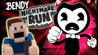 Bendy's Nightmare Run BATIM Gameplay APP Android Hack Walkthrough Song Puppet Steve