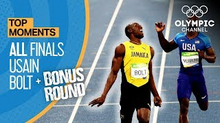 Video Usain Bolt | ALL Olympic finals + Bonus round | Top Moments MP3, 3GP, MP4, WEBM, AVI, FLV September 2018