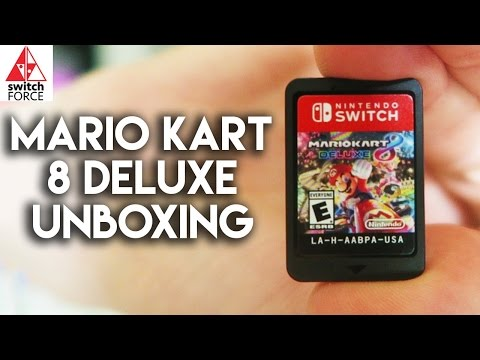 NEW SWITCH GAME!! Mario Kart 8 Deluxe Unboxing + Switch Rubix Cube (видео)