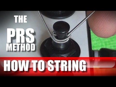 how to string your guitar, the PRS method