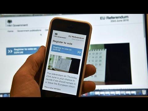 Brexit: Παράταση μετά τις μαζικές εγγραφές ψηφοφόρων της «τελευταίας στιγμής»