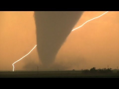 ON - At least four tornadoes touch down in Kansas; heavy rain and winds on its way.