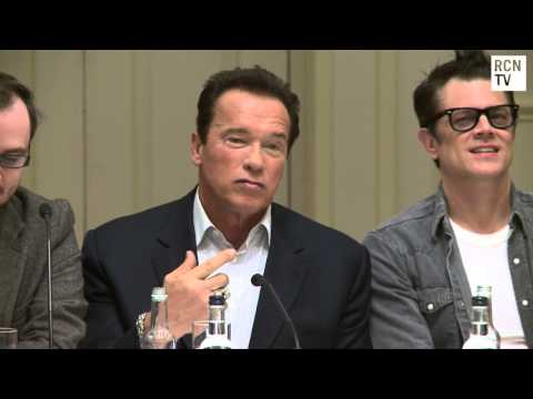 Arnold Schwarzenegger Interview One Liners & Jackass – The Last Stand Premiere Press Conferences