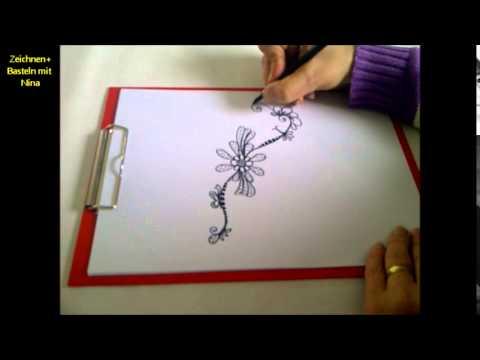 Zeichnen lernen für Anfänger.Ein Muster zeichnen mit immer neuen Details.
