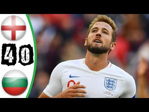 England vs Bulgaria 4-0 All goals and English Commentary  Extended highlights 07.08.2019