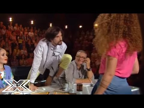 Flirting Contestant Seduces Male Judge With Justin Bieber Boyfriend Cover! | X Factor Global
