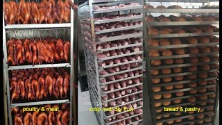 Professional industrial hot flow air 32 trays electric bakery rotary oven bread baking ovens youtube video