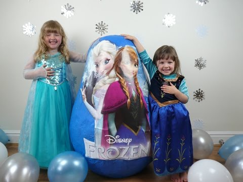 DISNEY FROZEN Videos SUPER GIANT Surprise Egg The Worlds Biggest Ever Elsa Anna Dolls Let it Go Wand
