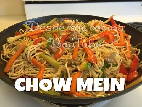 CHOW MEIN MIXTO Facil/Chicken & Pork Chow Mein - Easy to do