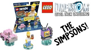 LEGO DIMENSIONS THE SIMPSONS LEVEL PACK UNBOXING!!! (LEGO Set No. 71202)