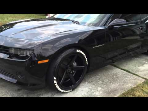 2015 Chevrolet Camaro 20x10.5 all around 275-40-20 front and 315-35-20  tires lowered 1.5 START UP