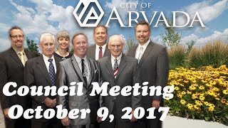 Preview image of Arvada City Council Meeting, October 9, 2017