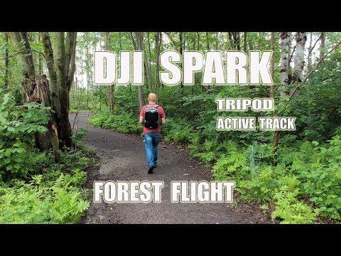 DJI SPARK - Forest Flight - Tripod & Active Track modes