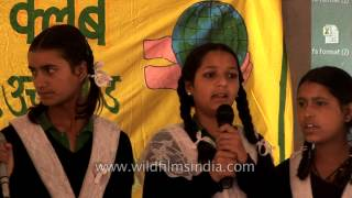 Special Hindi song presentation by the students of Government Inter college Ghorakhori during the International Day for Biological Diversity Water and ...