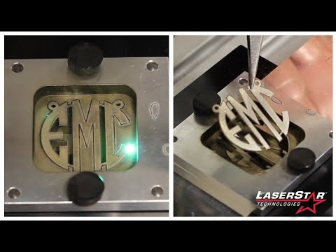 """<h3>Laser Cutting Monograms from Precious Alloys </h3>In this laser cutting video brought to you by <a dir=""""ltr"""" title=""""http://laserstar.net"""" href=""""http://laserstar.net"""" target=""""_blank"""" rel=""""nofollow"""">http://laserstar.net</a>, we demonstrate the FiberCube Laser Marking Systems ability to laser cut monograms, name cutouts and other jewelry designs out of precious alloys.<br /><br />"""