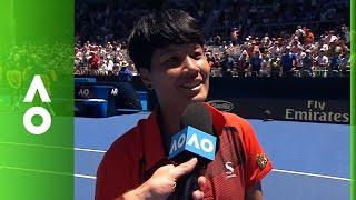 Luksika Kumkhum on court interview (2R) | Australian Open 2018