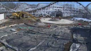Time-lapse of The building of Kings Island's Windseeker 2011 HD 1080p