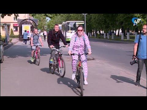 Новгородцы присоединились ко всероссийской акции «На работу на велосипеде»