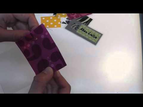 Geschenkanhänger aus Stoff selbermachen